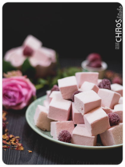 Himbeer Rosen Marshmallows - Thermomix - Raspberry Marshmallows