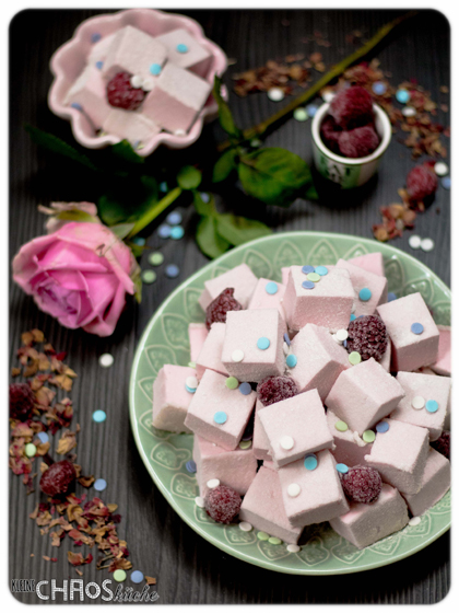 Himbeer Rosen Marshmallows - Thermomix - Raspberry Marshmallows #tmdonnerstag